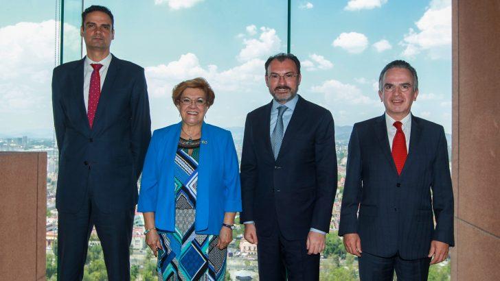 Recibe Videgaray a la Coordinadora del Mecanismo del Caso Iguala