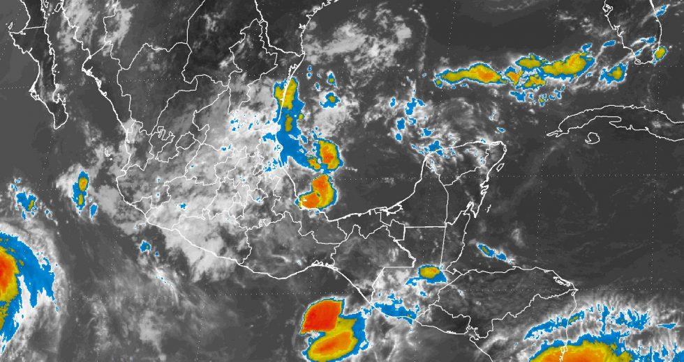 Prevén tormentas fuertes en ocho destados del país