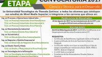 Segunda Etapa de Nuevo Ingreso a Tec de Tlaxcala (UTT)