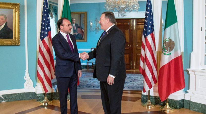 El Canciller Videgaray se Reúne con su Homólogo Estadounidense, Michael Pompeo