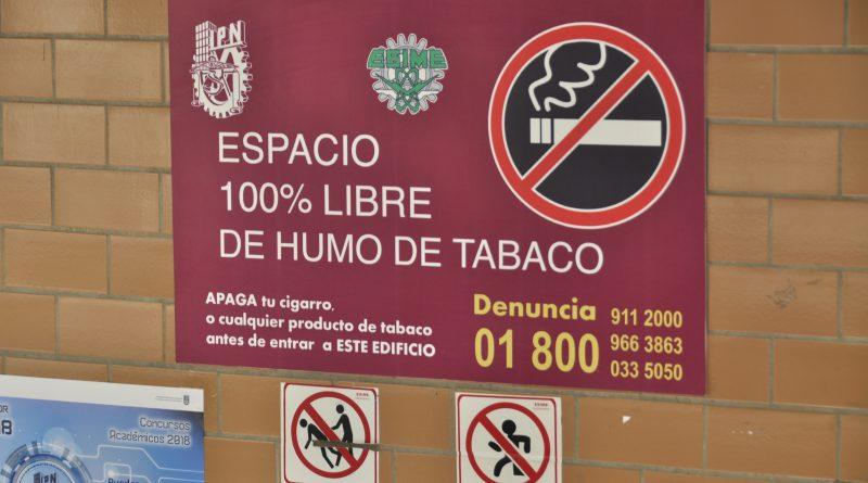 IPN, Primer Lugar de Instituciones Educativas Libres de Humo de Tabaco