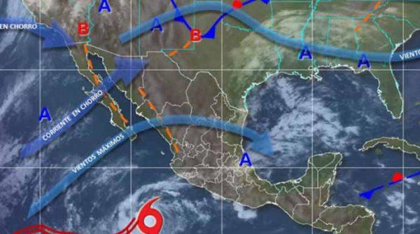Prevén Intensas Tormentas en las Siguientes Horas en Veracruz, Oaxaca y Chiapas