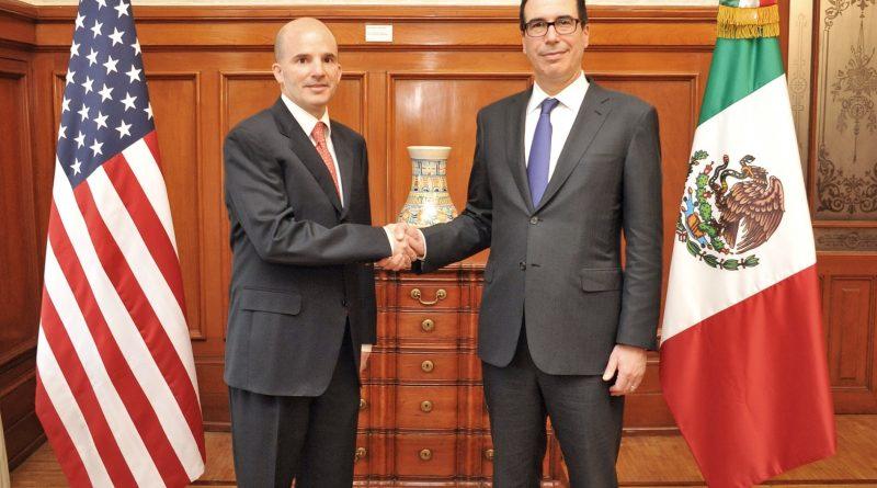 Reunión del Secretario José Antonio González Anaya con Homólgo Estadounidense Steven Mnuchin