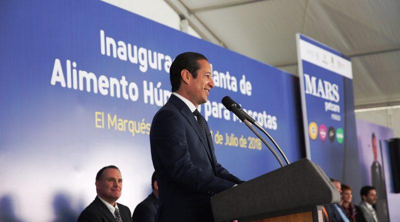 Inaugura Gobernador Segunda Planta de Mars Petcare en Querétaro