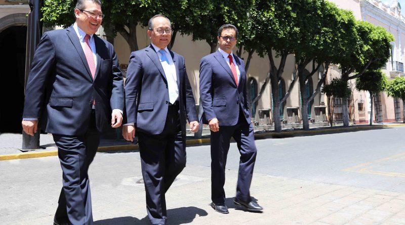 Fortalecen Cooperación  Marco Mena y Embajador Chino en México
