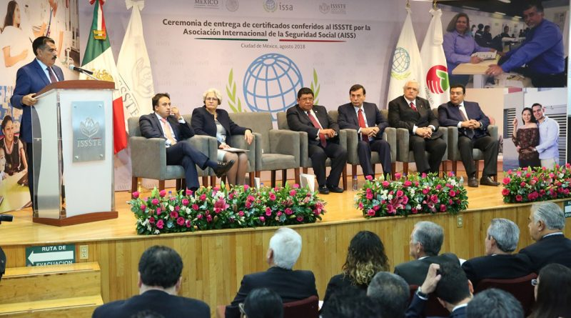 """Certificación Internacional al ISSSTE por """"Buenas Prácticas"""""""