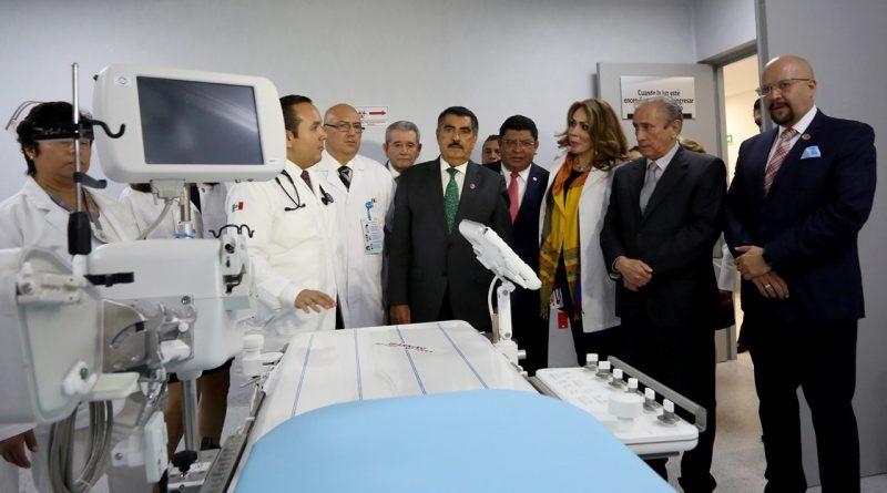 """Inauguran Florentino Castro y Joel Ayala Nueva Torre de Hemodinamia en Hospital General """"Tacuba"""""""
