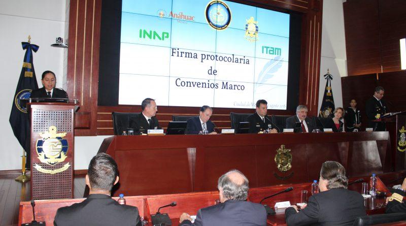 Firma Protocolaria de Convenios Marco en Materia de Seguridad Nacional Entre el Cesnav, Universidad Anáhuac México, INAP e ITAM