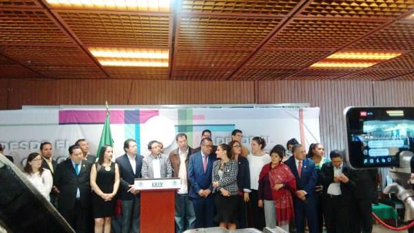 Diputados Federales de Morena, PES y PT Expresaran Respaldo Total a Miguel Barbosa