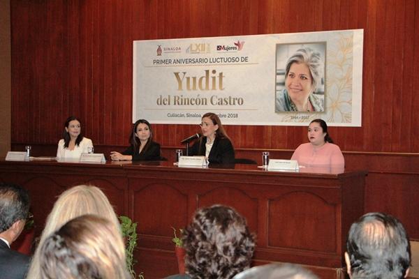 Reconoce Congreso del Estado Legado de Yudit del Rincón