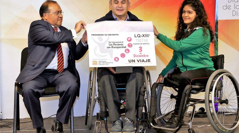 Presenta STC Boleto Conmemorativo a Favor de Personas con Discapacidad