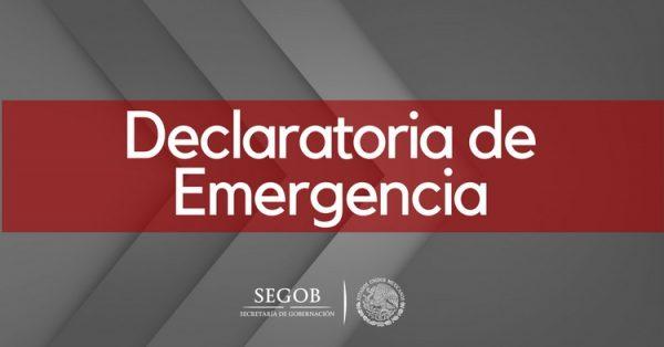 Declara Segob Emergencia para 3 Municipios de Zacatecas