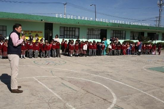 Alumnos de 3 Escuelas de Metepec Reciben Obra Pública por Casi 3.5 Mdp