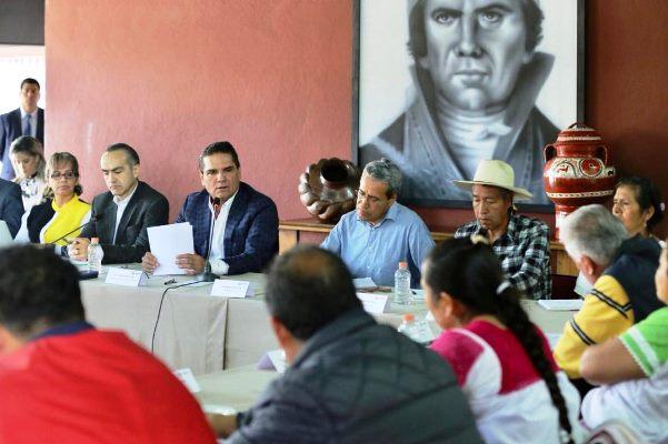 Gobernador Silvano Aureoles Conejo Recibió en Casa de Gobierno a Concejo Mayor de Gobierno Comunal de Chercán