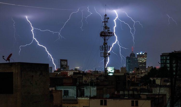 Pronostican Lluvias Fuertes y Actividad Eléctrica al sur y Oriente de CDMX por la Tarde