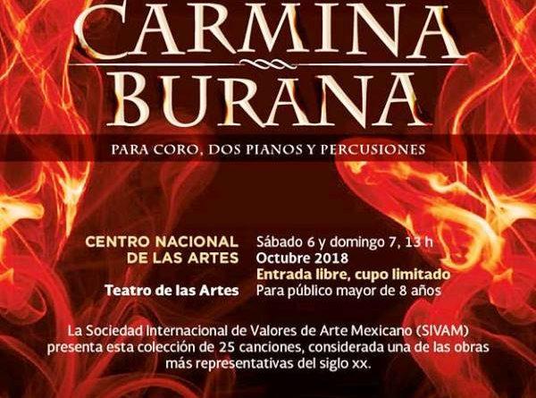 Llevan Carmina Burana Para Coro, dos Pianos y Percusiones al Cenart