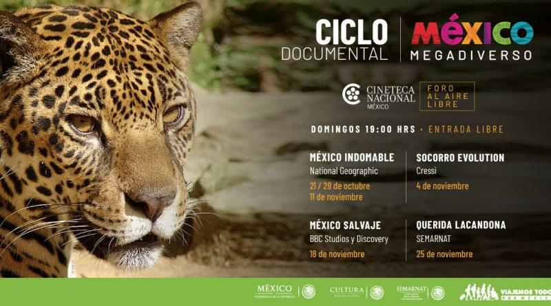 "Inicia Ciclo de Cine Documental ""México Megadiverso"" en Cineteca Nacional"