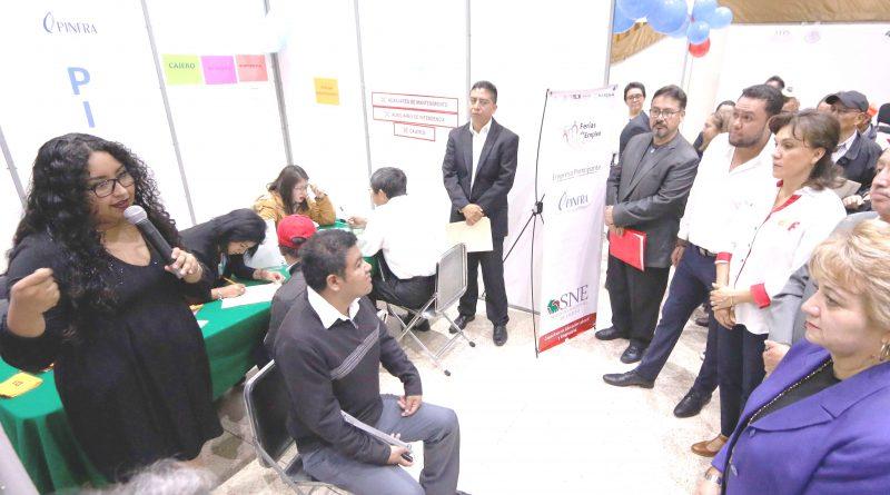 Inaugura Sandra Chávez 6ª. Feria de Empleo para Personas con Discapacidad y Adultos Mayores