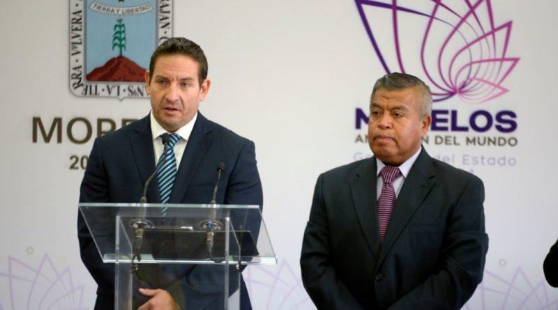 Francisco Reyes, Vocero y Alexander Pisa, Coordinador de Comunicación en Morelos