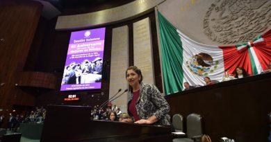 Participación de Diputada Clementina Marta Dekker Gómez, Durante Sesión Solemne con Motivo de Conmemoración del 65 Aniversario del Voto de Mujer en México