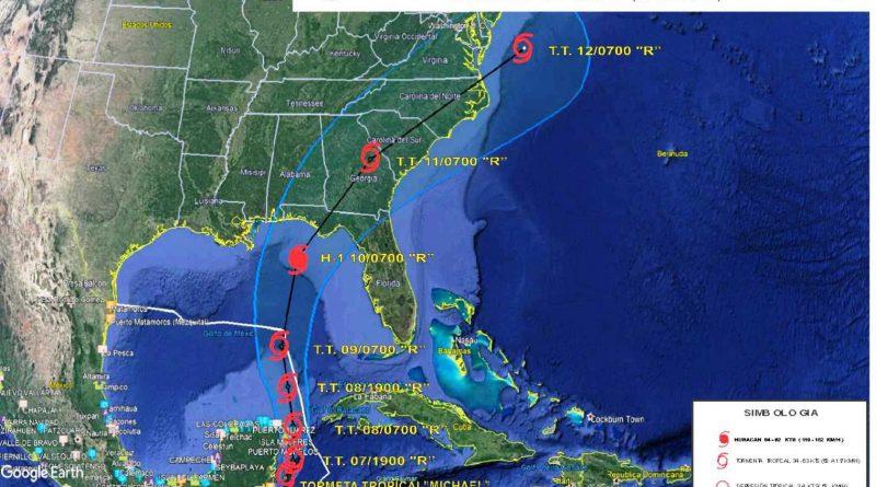 """Secretar de Marina-Armada de México Activa Plan Marina en su Fase de Prevención en Estados de Quintana Roo y Yucatán, por Presencia de Tormenta Tropical """"Michael"""""""