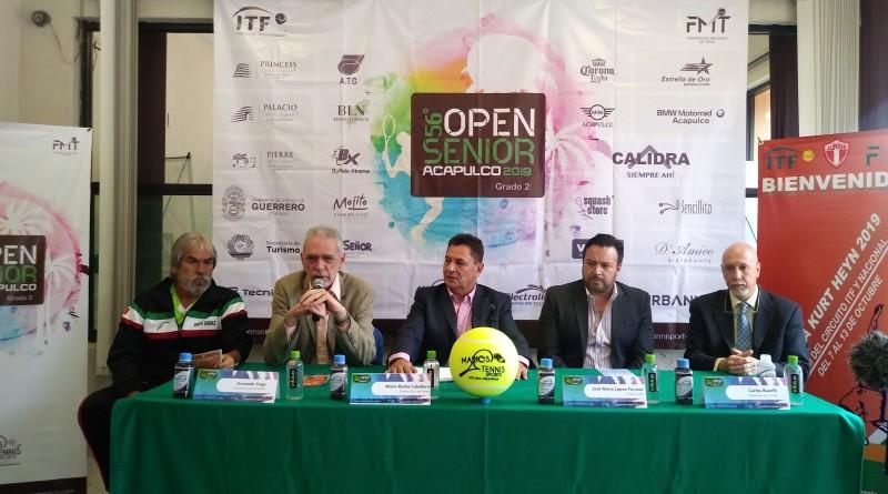 Presentan la 36 Copa Kurt Heyn y el 56 Open Senior Acapulco 2019 de tenis