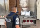 Recupera Guardia Nacional 35 Vehículos y Diversas Toneladas de Cargamento Robado en Apaseo El Grande