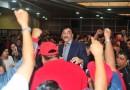 Porras y Vivas a Víctor Flores con Unidad Sindical por el Día del Ferrocarrilero
