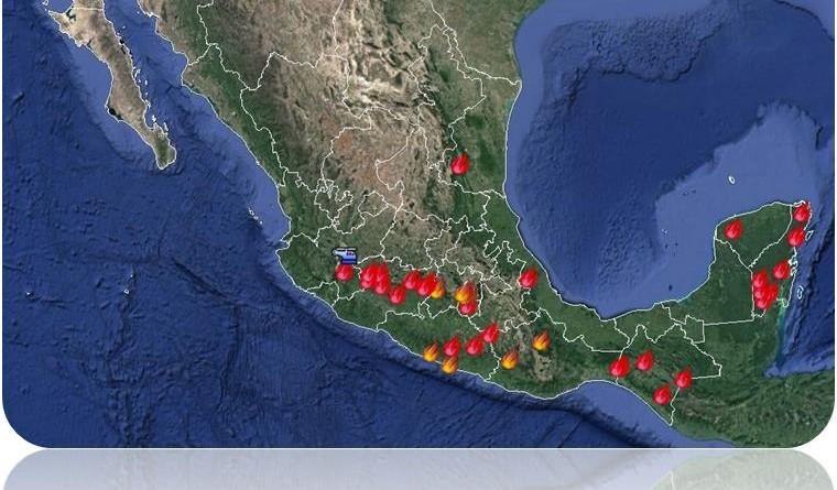 Situación de Incendios Forestales en México al 8 de Abril